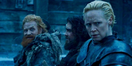 kristofer-hivju-as-tormund-and-gwendoline-christie-as-brienne-on-game-of-thrones